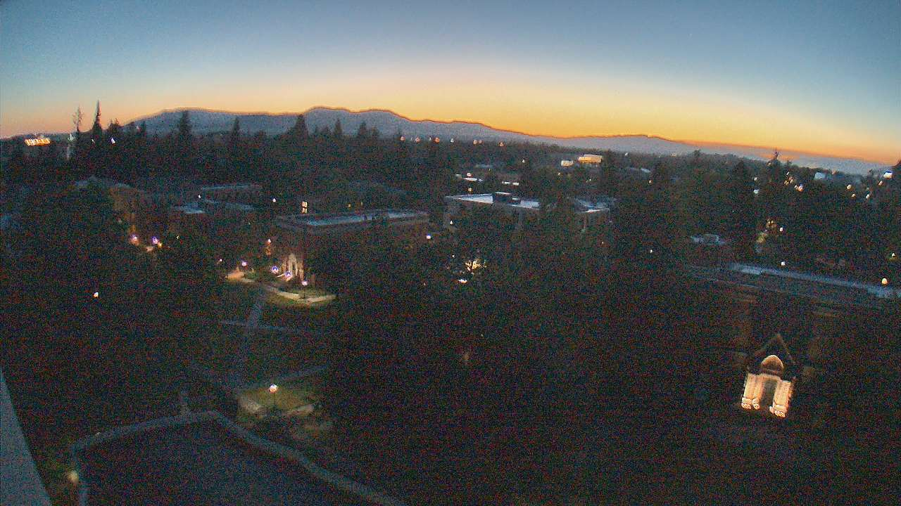 View of University of Oregon's Memorial Quadrangle from PLC webcam